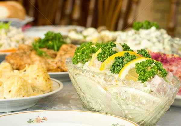 Tijd eten banket restaurant gericht een Stockfoto © Arsgera