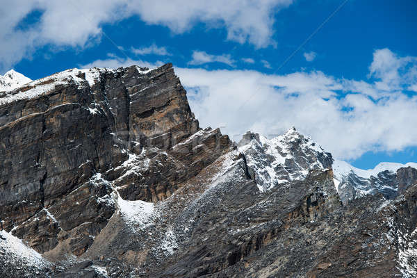 Landscape viewed from Gokyo Ri summit in Himalayas Stock photo © Arsgera