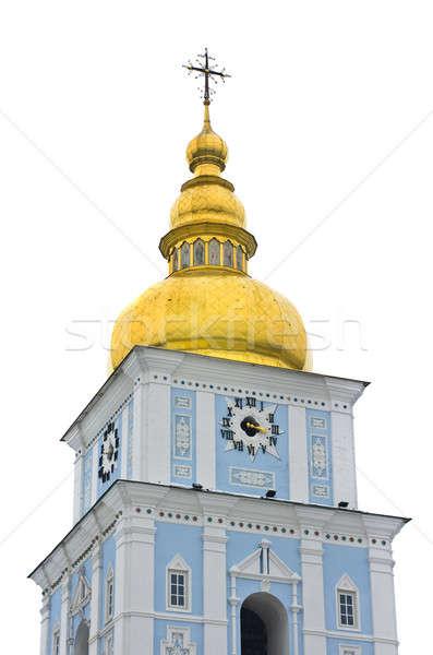 Ortodoxo iglesia campana torre reloj blanco Foto stock © Arsgera
