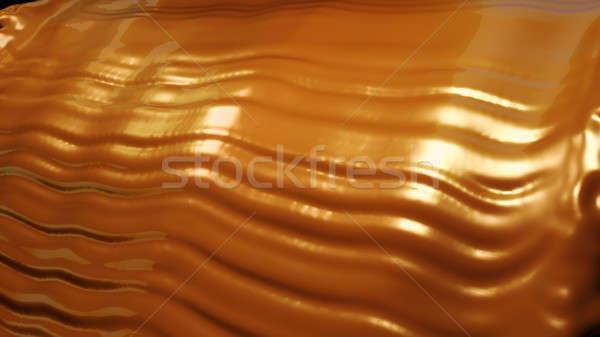 étel ital forró csokoládé áramlás fekete csokoládé Stock fotó © Arsgera