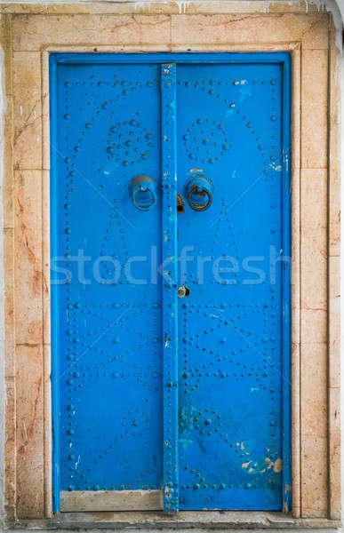 Tradicional porta Tunísia grande Foto stock © Arsgera