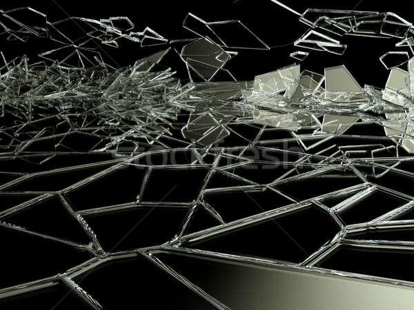 сломанной треснувший стекла черный большой разрешение Сток-фото © Arsgera