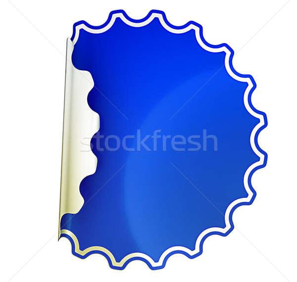 Blue round bent sticker or label  Stock photo © Arsgera