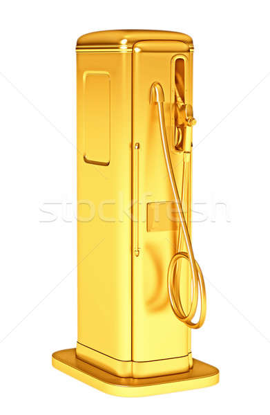 Valuable gasoline: golden fueling pump isolated Stock photo © Arsgera