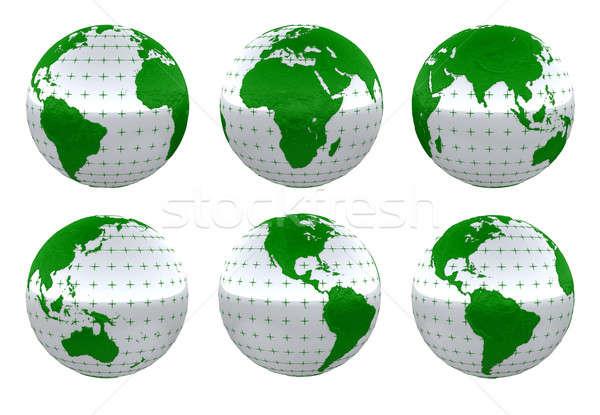 Verde planeta terra vida isolado branco terra Foto stock © Arsgera