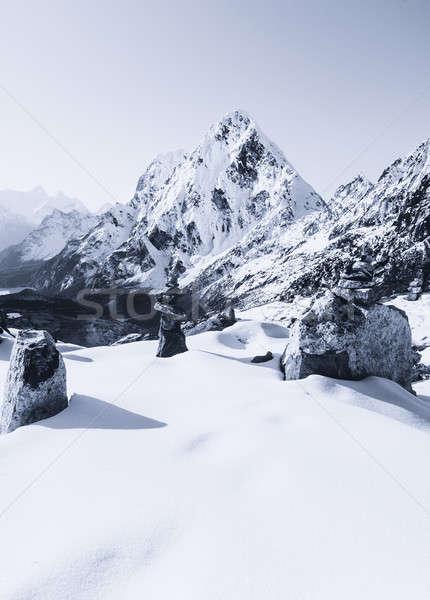 La dawn bergen trekking Stockfoto © Arsgera