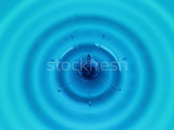 Gotas olas azul fluido grande Foto stock © Arsgera