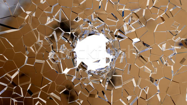 Broken shattered glass pieces isolated  Stock photo © Arsgera
