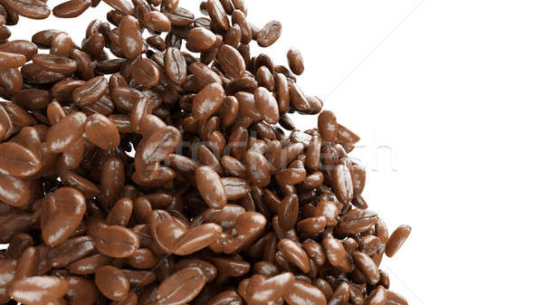 roasted coffee beans mixing isolated Stock photo © Arsgera