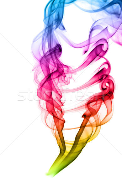 Colored puff of abstract fume on white Stock photo © Arsgera