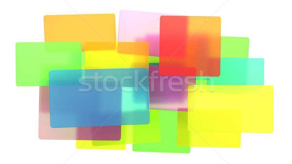 Diverzitás absztrakt áttetsző színes izolált fehér Stock fotó © Arsgera