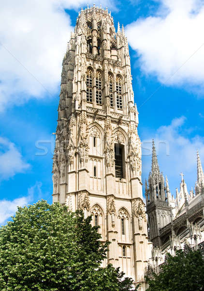 Notre Dame cathedral Tower in Rouen Stock photo © Arsgera