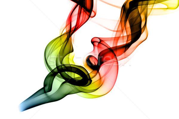 RGB Fume Abstract shape on white Stock photo © Arsgera