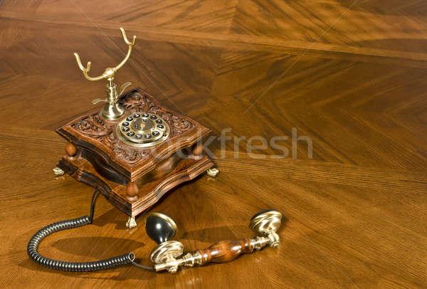 Pick up the phone. Old-fashioned telephone Stock photo © Arsgera