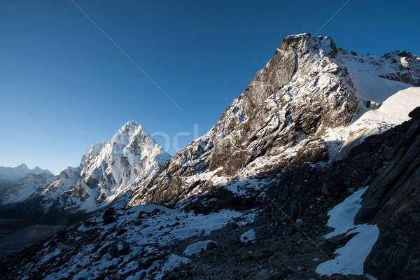 La dawn bergen landschap Stockfoto © Arsgera