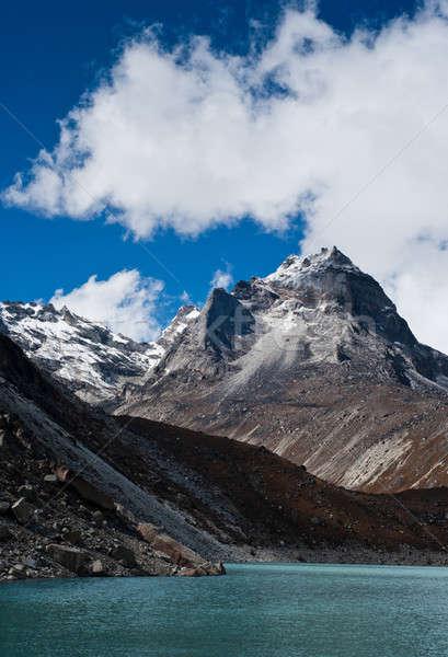 Mt. peak and Sacred Lake near Gokyo in Himalayas Stock photo © Arsgera