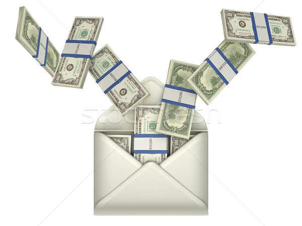 Zarobek dolarów kopercie szary Zdjęcia stock © Arsgera
