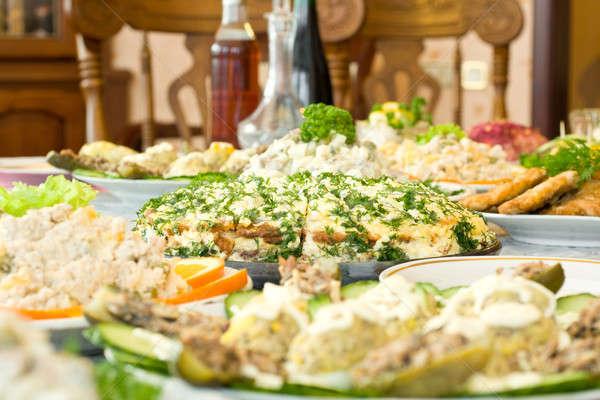 Tasty Pie - Banquet in the restaurant Stock photo © Arsgera
