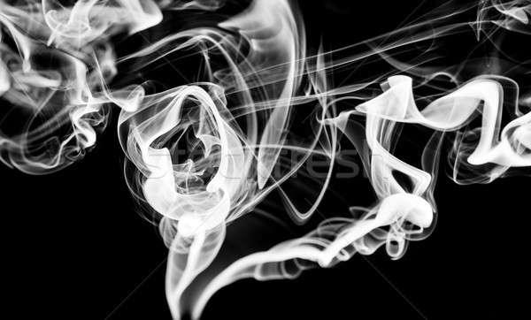 Foto stock: Resumen · blanco · humo · curvas