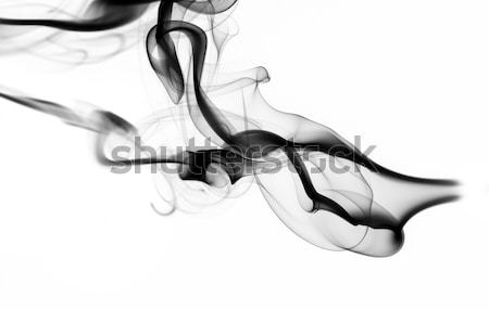 Abstract white fume pattern and shape on white Stock photo © Arsgera