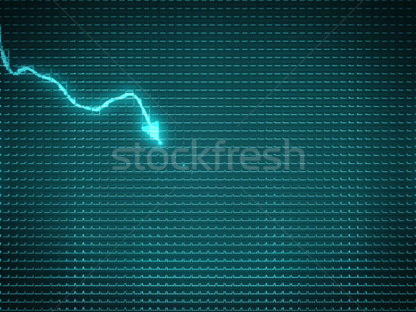 Blue trend graph as symbol of business decline or financial cris Stock photo © Arsgera