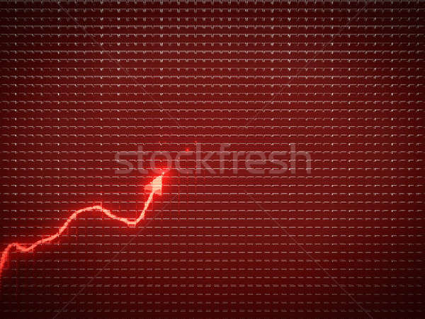 red trend graph as symbol of economic or business growth Stock photo © Arsgera