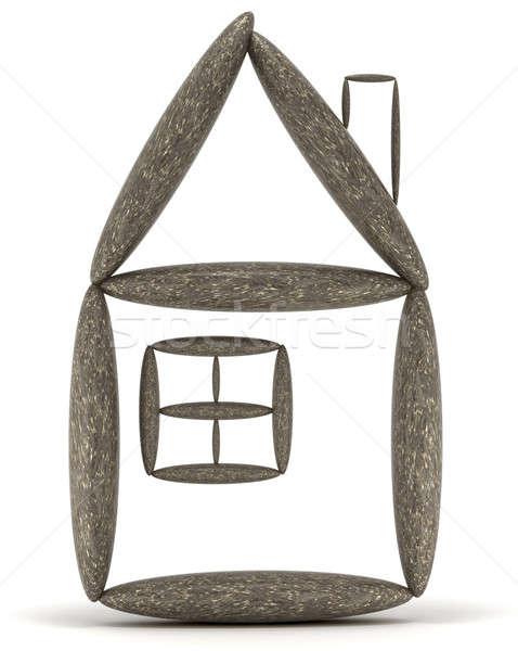 Home stabilità equilibrata pietra torre Foto d'archivio © Arsgera
