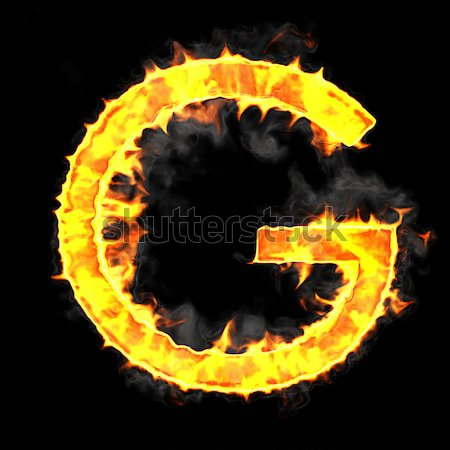 Burning and flame font D letter Stock photo © Arsgera