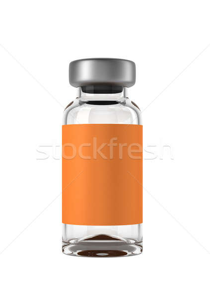 Single medical ampoule isolated Stock photo © Arsgera