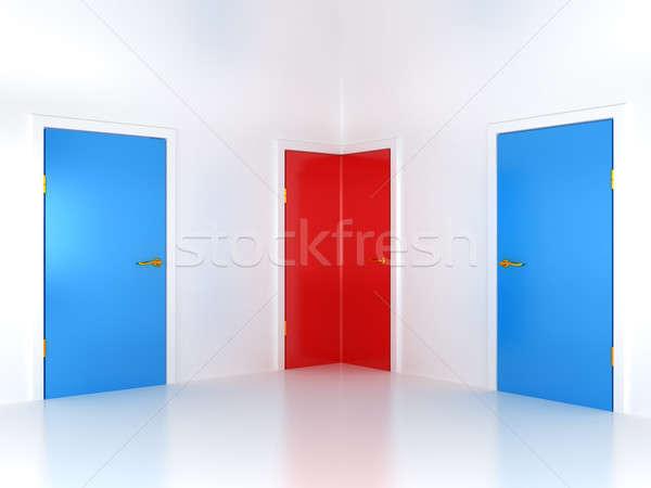 Right choice: conceptual corner door  Stock photo © Arsgera