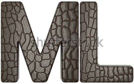 Alligator skin font m and l lowercase letters Stock photo © Arsgera