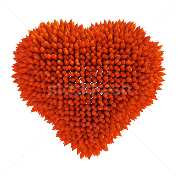 Dangerous love: sharp acidotus heart shape Stock photo © Arsgera