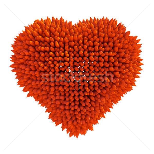 опасный любви острый формы сердца изолированный белый Сток-фото © Arsgera
