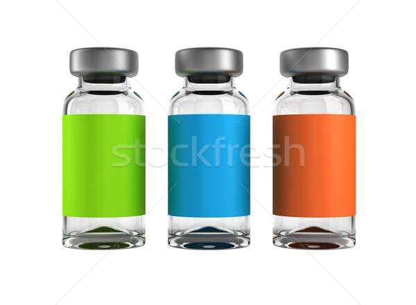 Three medical ampules isolated Stock photo © Arsgera