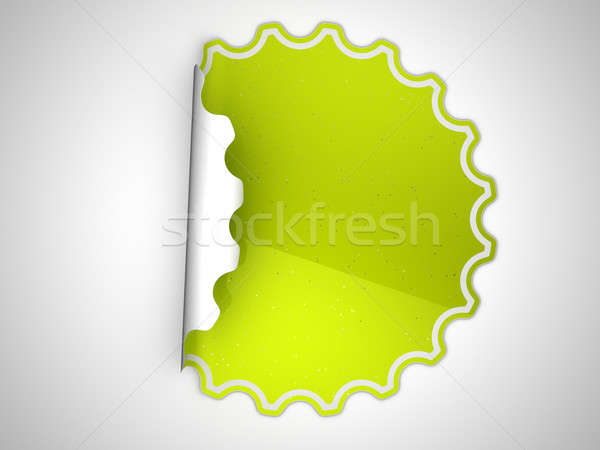 Green spotted sticker or label  Stock photo © Arsgera