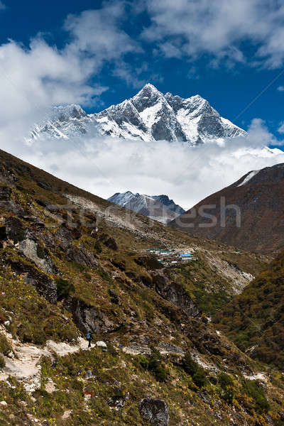 Himalaya landscape: Lhotse and Lhotse shar peaks Stock photo © Arsgera