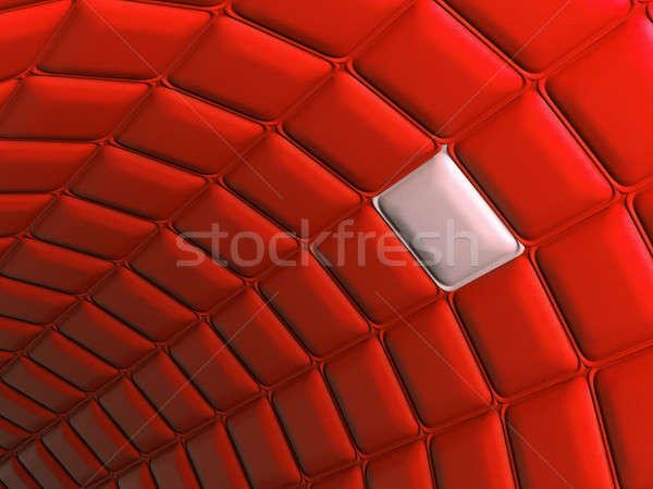 Uniqueness: Red leather pattern arch shape with unique segmen Stock photo © Arsgera