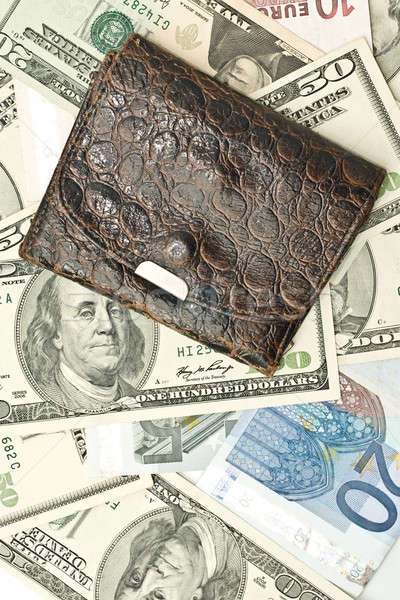 Save the money - old wallet, US dollars Stock photo © Arsgera