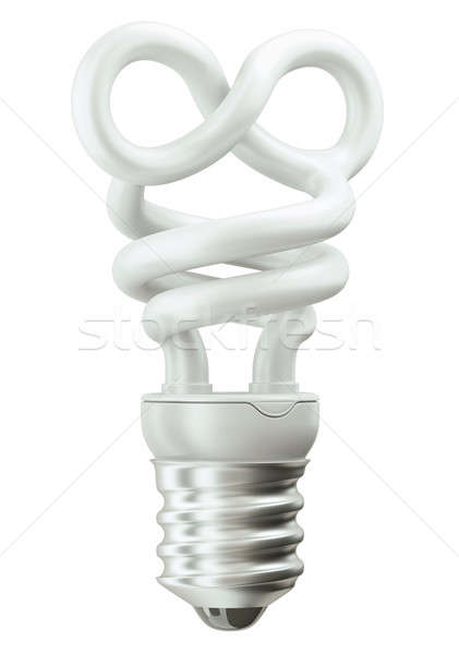 infinity symbol light bulb on white Stock photo © Arsgera
