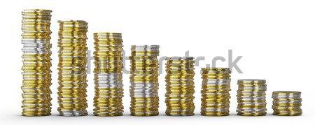 Success or drop: golden and silver coins  Stock photo © Arsgera