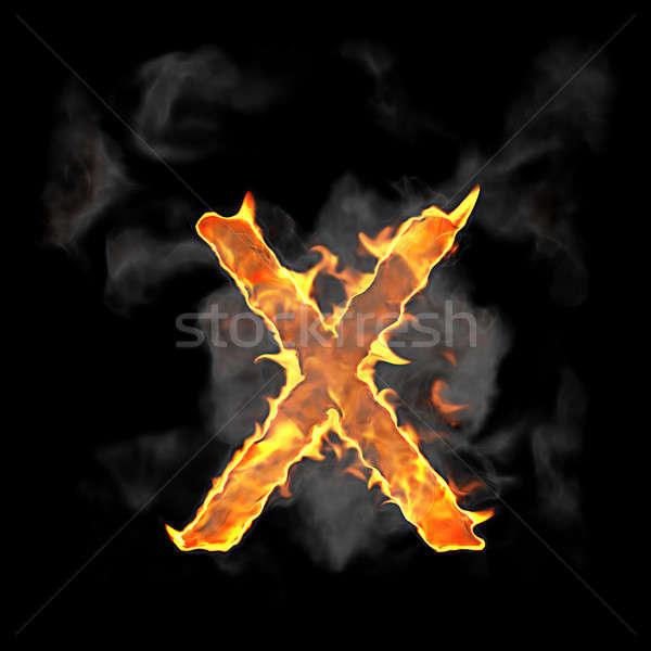 Stock fotó: égő · láng · betűtípus · levél · fekete · textúra