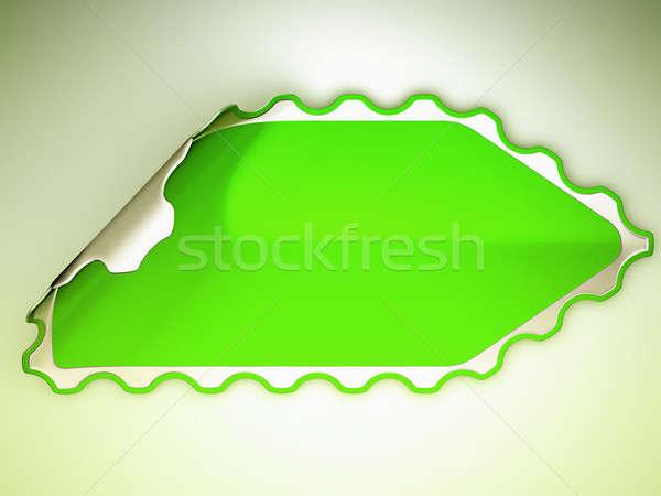 Green jagged hamous sticker or label  Stock photo © Arsgera