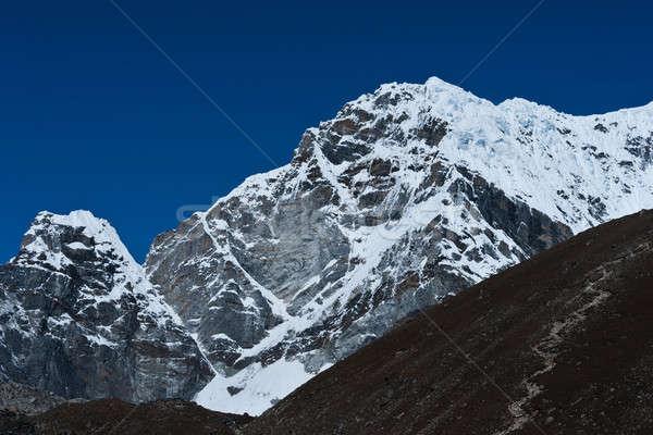 Mountain Peaks not far Everest base camp Stock photo © Arsgera