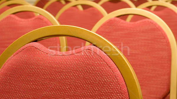 Closeup of red Chair in the conference hall Stock photo © Arsgera