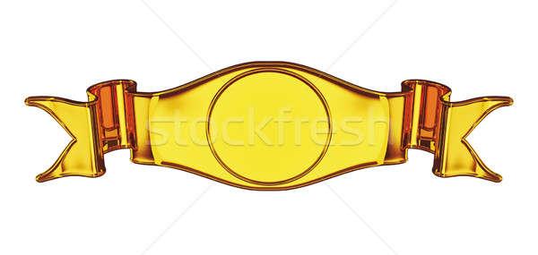 Gouden embleem label nuttig badge geïsoleerd Stockfoto © Arsgera