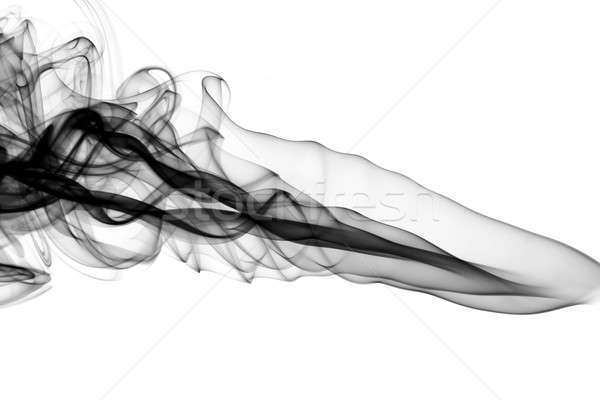 Abstraction Black fume swirl on white Stock photo © Arsgera
