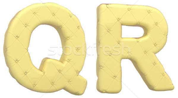 Luxury soft leather font Q R letters Stock photo © Arsgera