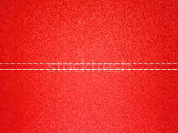 Red stitched leather background. Large resolution Stock photo © Arsgera