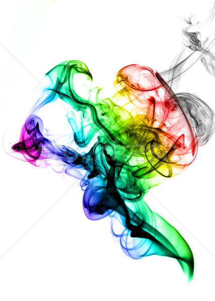 Gradient colored fume on the white Stock photo © Arsgera