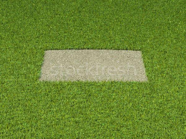 Sóder fű tér folt zöld keret Stock fotó © Arsgera